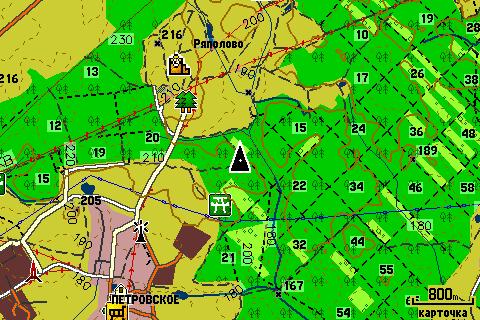 подробная Карта для Garmin