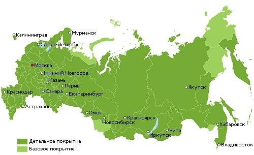 Дороги РФ с автороутингом