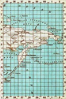 Бланковая карта Дальнего востока и Запада (Чукотка) РФ