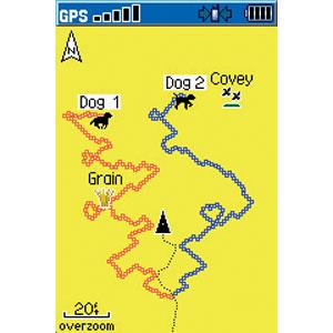 Астро 220 GPS: собаки на экране