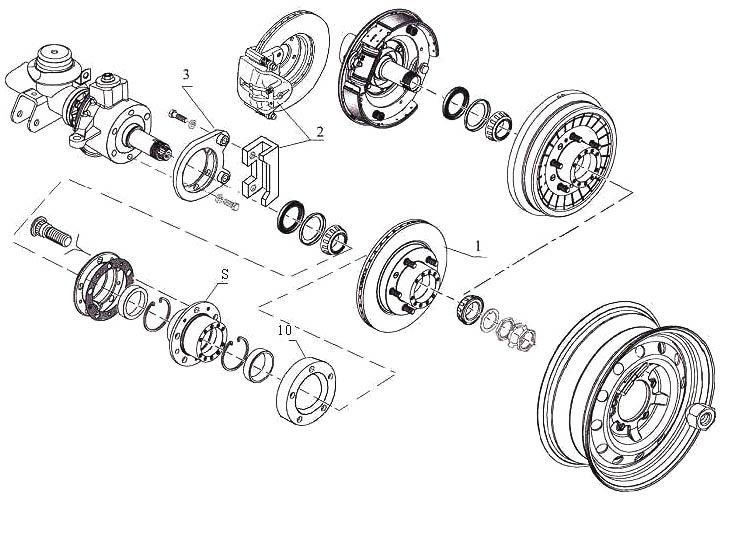 Схема установки дисковых