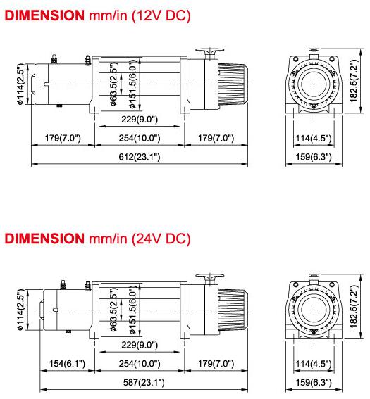 Схема Лебёдки Come Up DV-12