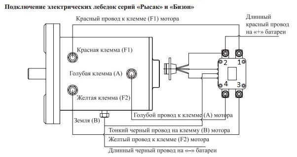 Схема подключения соленоида и