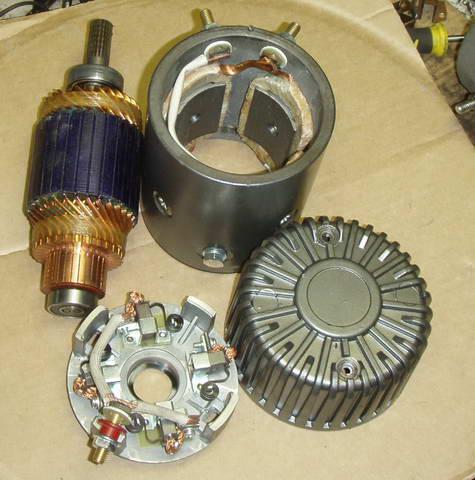 Электродвигатель из стартера своими руками